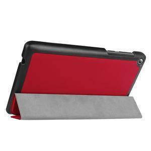 Trifold polohovatelné pouzdro na Lenovo Tab 2 A7-20 - červené - 5