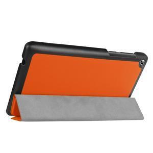 Trifold polohovatelné pouzdro na Lenovo Tab 2 A7-20 - oranžové - 5
