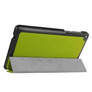 Trifold polohovatelné pouzdro na Lenovo Tab 2 A7-20 - zelené - 5