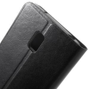 Horse peněženkové pouzdro na Lenovo Vibe P1 - černé - 5
