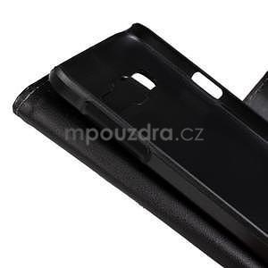 PU kožené pouzdro na Samsung Galaxy A3 - černé - 5