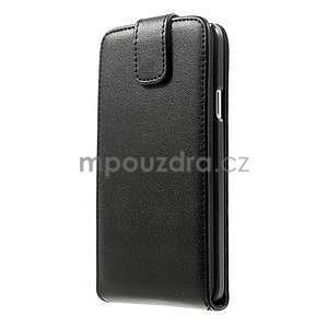 PU kožené flipové pouzdro na Samsung Galaxy A3 - černé - 5