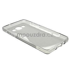 Gelové s-line pouzdro na Samsung Galaxy A3 - šedá - 5