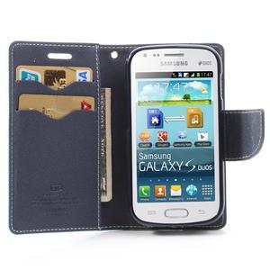 Diary pouzdro na mobil Samsung Galaxy S Duos/Trend Plus - azurové - 5