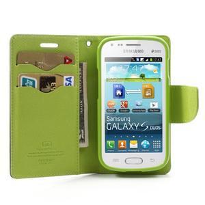 Diary pouzdro na mobil Samsung Galaxy S Duos/Trend Plus - tmavěmodré - 5