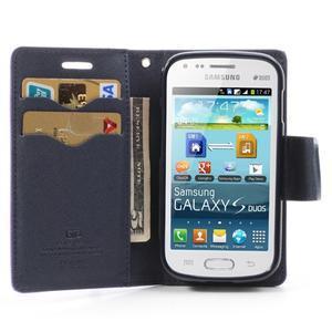 Diary pouzdro na mobil Samsung Galaxy S Duos/Trend Plus - fialové - 5