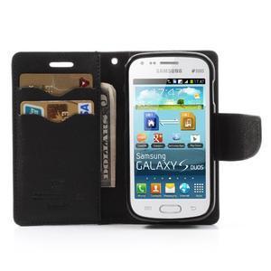 Diary pouzdro na mobil Samsung Galaxy S Duos/Trend Plus - hnědé/černé - 5
