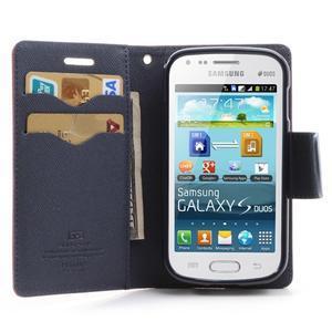 Diary pouzdro na mobil Samsung Galaxy S Duos/Trend Plus - červené - 5