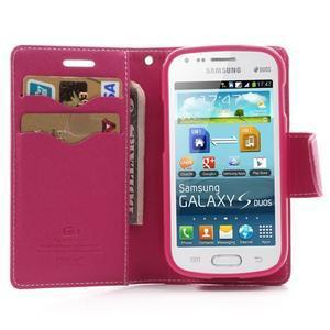Diary pouzdro na mobil Samsung Galaxy S Duos/Trend Plus - růžové - 5