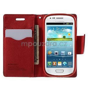 Diary peněženkové pouzdro na mobil Samsung Galaxy S3 mini - černé/červené - 5