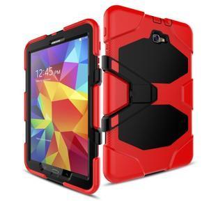 Armory 3v1 odolný obal na tablet Samsung Galaxy Tab A 10.1 (2016) - červený - 5