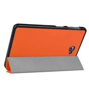 Trifold polohovatelné pouzdro na Samsung Galaxy Tab A 10.1 (2016) - oranžové - 5