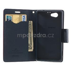 Fancy peněženkové pouzdro na Sony Xperia Z1 Compact - červené - 5