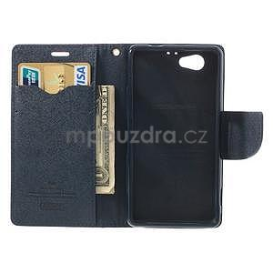 Fancy peněženkové pouzdro na Sony Xperia Z1 Compact - rose - 5