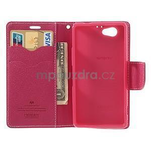 Fancy peněženkové pouzdro na Sony Xperia Z1 Compact - růžové - 5