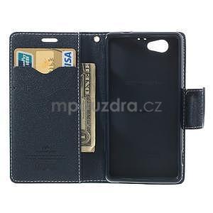 Fancy peněženkové pouzdro na Sony Xperia Z1 Compact - azurové - 5