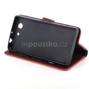 Leaf peněženkové pouzdro na Sony Xperia Z3 Compact - červené - 5