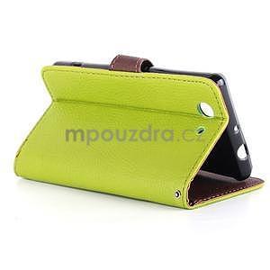 Leaf peněženkové pouzdro na Sony Xperia Z3 Compact - zelené - 5