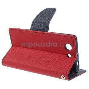 Diary peněženkové pouzdro na mobil Sony Xperia Z3 Compact - červené - 5