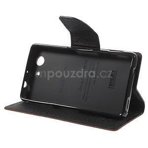 Diary peněženkové pouzdro na mobil Sony Xperia Z3 Compact - hnědé - 5