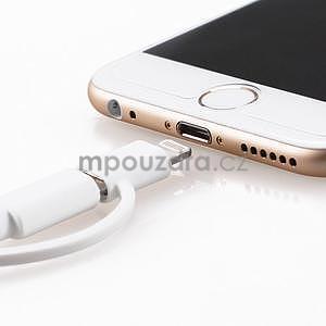 MFi propojovací kabel 8 pin pro zařízení Apple a micro USB 2v1 - 1 metr - bílý - 5