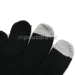 Skeleton rukavice na dotykové telefony - černé/bílé - 5