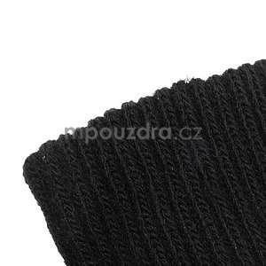 Skeleton rukavice na dotykové telefony - černé/fialové - 5