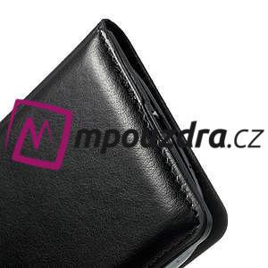 Luxusní pěněženkové pouzdro na Samsung Galaxy S3 i9300 - černé - 5