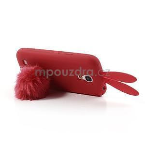 Silikonový obal na Samsung Galaxy S4 mini - červený králík - 5