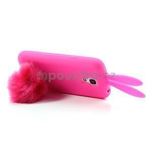 Silikonový obal na Samsung Galaxy S4 mini - rose králík - 5