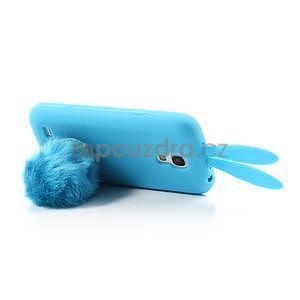 Silikonový obal na Samsung Galaxy S4 mini - modrý králík - 5