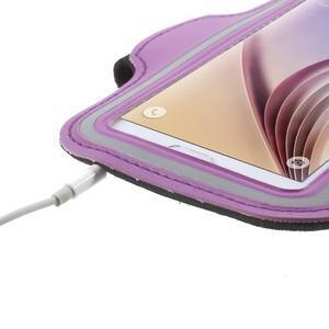 Fittsport pouzdro na ruku pro mobil do rozměrů 143.4 x 70,5 x 6,8 mm - fialové - 5