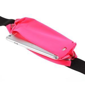 Sportovní kapsička přes pas na mobily do rozměrů 149 x 75 mm - rose - 5