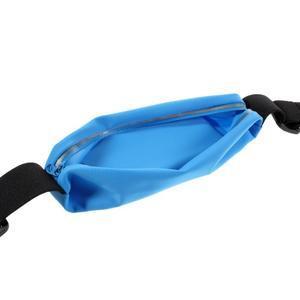 Sportovní kapsička přes pas na mobily do rozměrů 149 x 75 mm - modré - 5