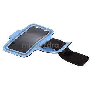 Gyms pouzdro na běhání pro mobily do 143 x 70 mm - světle modré - 5