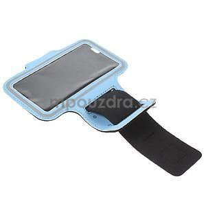 Gymfit sportovní pouzdro pro telefon do 125 x 60 mm - světle modré - 5