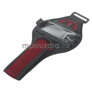 Absorb sportovní pouzdro na telefon do velikosti 125 x 60 mm - červené - 5