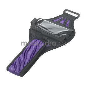 Absorb sportovní pouzdro na telefon do velikosti 125 x 60 mm - fialové - 5