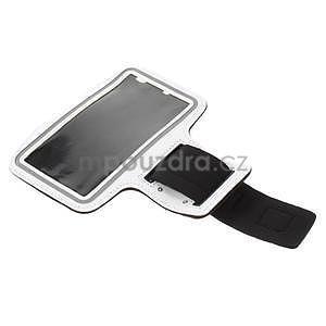 Běžecké pouzdro na ruku pro mobil do velikosti 152 x 80 mm - bílé - 5