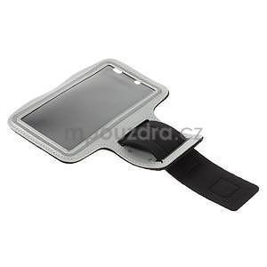 Běžecké pouzdro na ruku pro mobil do velikosti 152 x 80 mm - šedé - 5