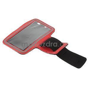 Běžecké pouzdro na ruku pro mobil do velikosti 152 x 80 mm - červené - 5