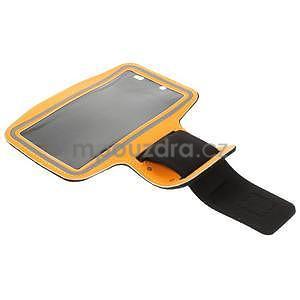 Běžecké pouzdro na ruku pro mobil do velikosti 152 x 80 mm - oranžové - 5