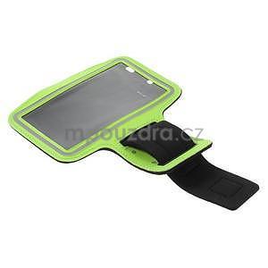 Běžecké pouzdro na ruku pro mobil do velikosti 152 x 80 mm - zelené - 5