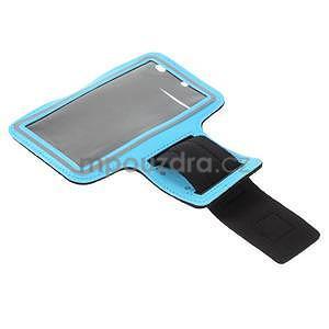 Běžecké pouzdro na ruku pro mobil do velikosti 152 x 80 mm - světlemodré - 5