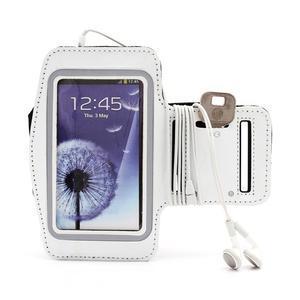 Sportovní pouzdro na ruku až do velikosti mobilu 140 x 70 mm - bílé - 5