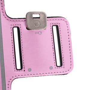 Sportovní pouzdro na ruku až do velikosti mobilu 140 x 70 mm - růžové - 5