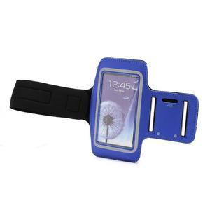 Sportovní pouzdro na ruku až do velikosti mobilu 140 x 70 mm - modré - 5