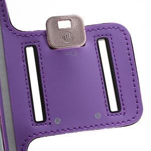 Sportovní pouzdro na ruku až do velikosti mobilu 140 x 70 mm - fialové - 5