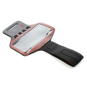 Sports Gym pouzdo na ruku pro velikost mobilu až 140 x 70 mm - červené - 5
