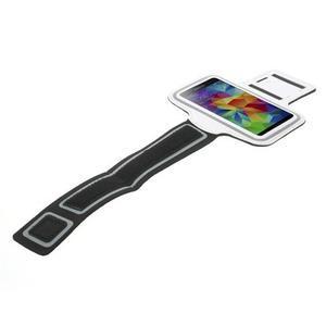 Fitsport pouzdro na ruku pro mobil do velikosti až 145 x 73 mm - bílé - 5